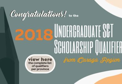 Caraga congratulates qualifiers for 2018 undergrad science and tech scholarship