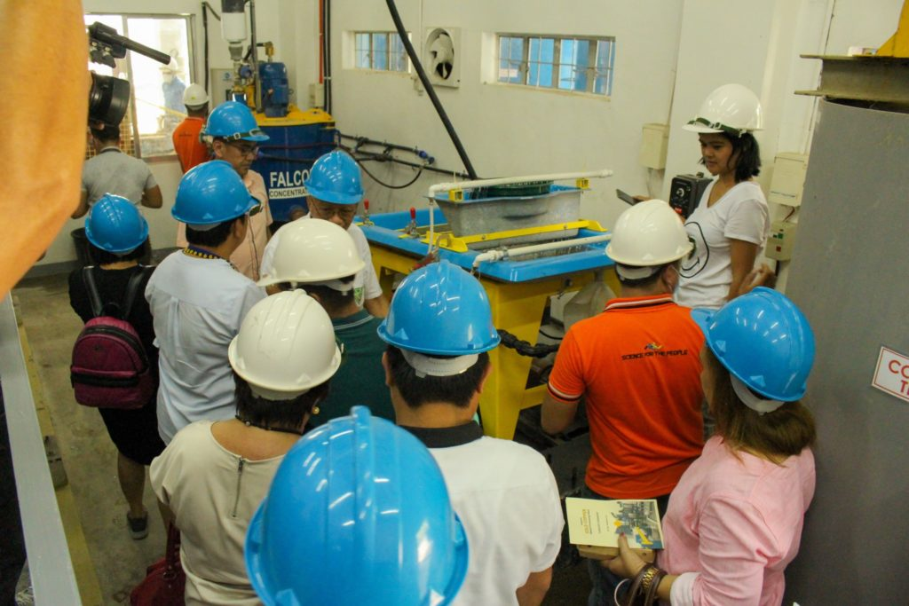 Tour inside the plant during the turnover ceremony